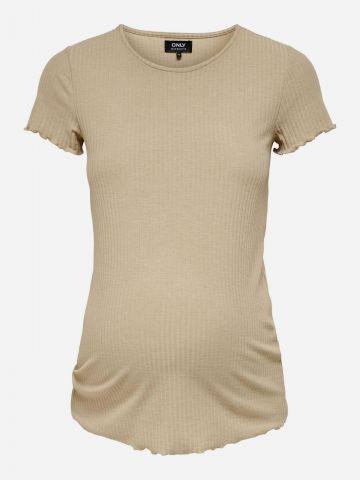 חולצת ריב סיומת גלים לנשים בהריון / נשים של ONLY