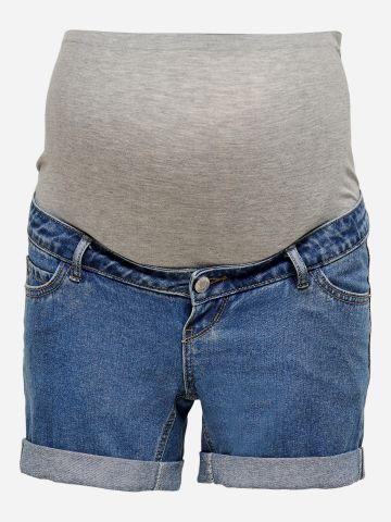 ג'ינס קצר עם קיפולים בסיומת לנשים בהריון / נשים של ONLY