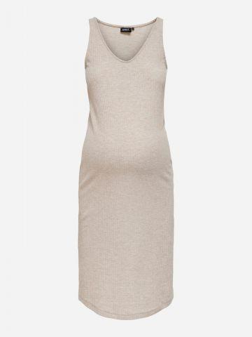 שמלת מידי ריב לנשים בהריון / MATERNITY של ONLY