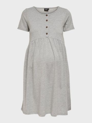 שמלת מיני בשילוב כפתורים לנשים בהריון / MATERNITY של ONLY