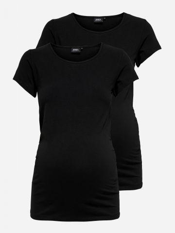 מארז 2 חולצות טי שירט לנשים בהריון / MATERNITY של ONLY