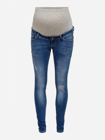 ג'ינס סקיני ארוך בשילוב קרעים לנשים בהריון / נשים של ONLY