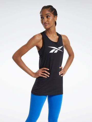 גופיית אימון Slim-Fit עם לוגו של REEBOK