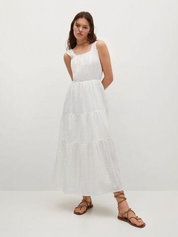 שמלת מקסי בסגנון קומות של MANGO