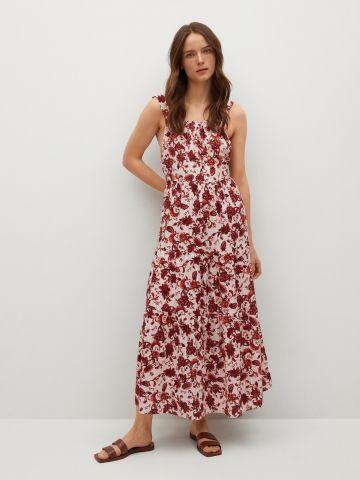 שמלת מקסי בהדפס פרחים של MANGO