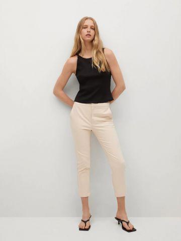 מכנסיים ארוכים בגזרת Skinny crop של MANGO