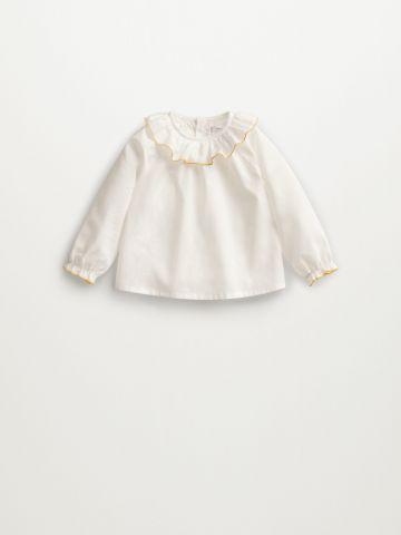 חולצה בשילוב מלמלה / 1M-1Y של MANGO