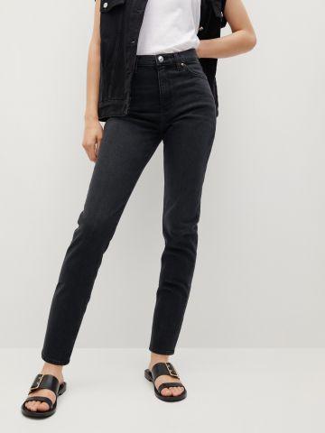 ג'ינס ארוך בגזרת Mom של MANGO