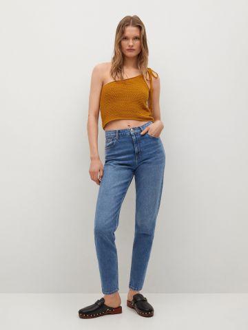 ג'ינס MOM בשטיפה כהה של MANGO