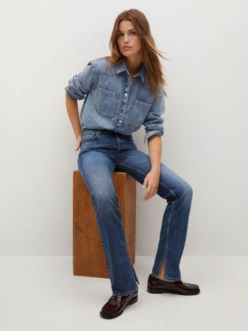 ג'ינס ארוך בסיומת שסע Bonny של MANGO