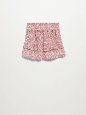 חצאית קומות בהדפס / בנות של MANGO