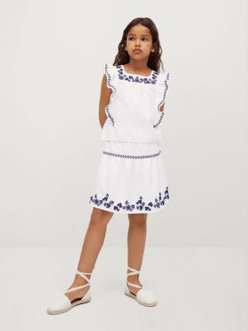חצאית בשילוב רקמה של MANGO
