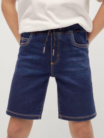 מכנסיים קצרים דמוי ג'ינס של MANGO