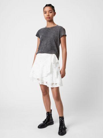 חצאית רקמה עם קשירה של ALL SAINTS