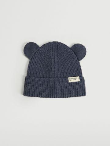 כובע גרב סרוג בשילוב אוזניים / בייבי של MANGO