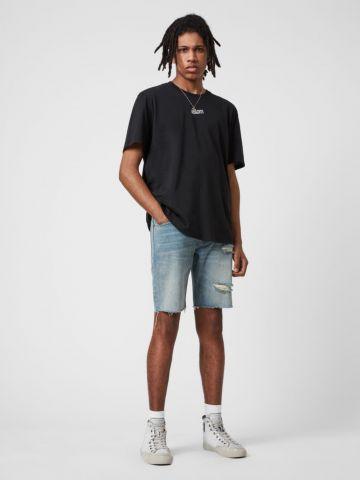 ג'ינס קצר עם קרעים של ALL SAINTS