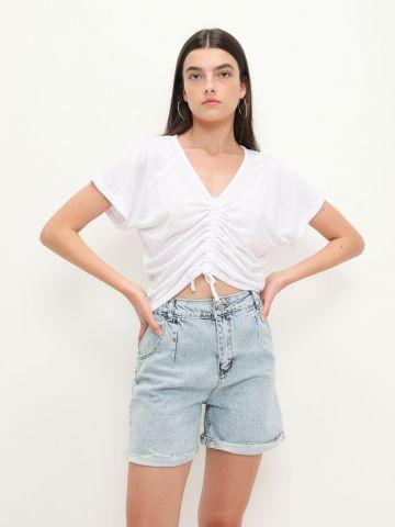ג'ינס ווש קצר של YANGA