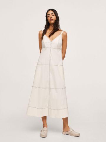 שמלת מידי תיפורים מודגשים של MANGO