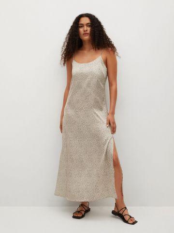 שמלת מקסי בהדפס נקודות של MANGO