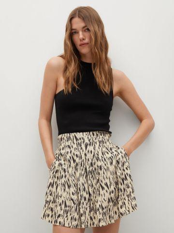 חצאית מיני בהדפס של MANGO