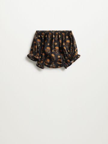 מכנסיים קצרים בהדפס פרחים / 6M-18M של MANGO