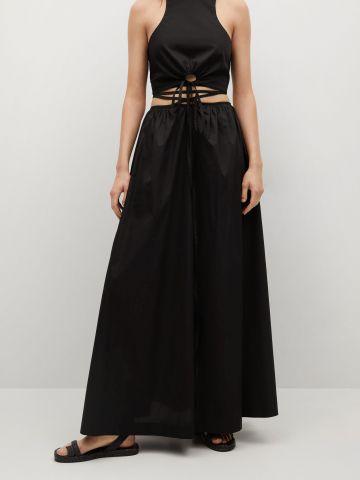חצאית מקסי בשילוב שרוך קשירה של MANGO