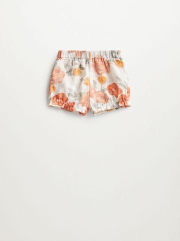 מכנסיים קצרים בהדפס פרחים / 1M-12M של MANGO