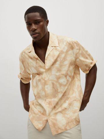 חולצה מכופתרת אומברה של MANGO