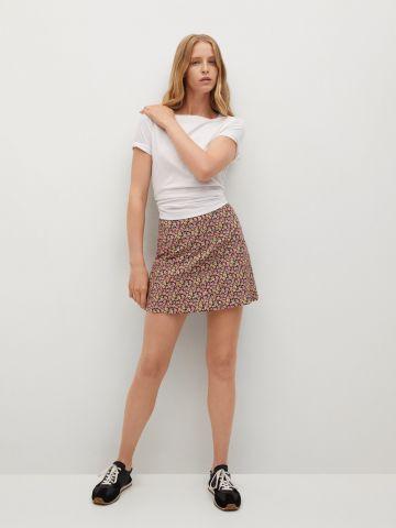 חצאית מיני בהדפס פרחים של MANGO