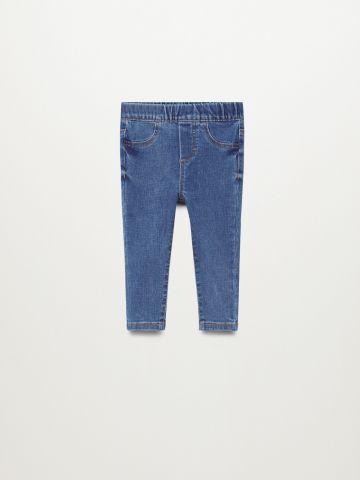 ג'ינס חלק עם כיסים / 9M-4Y של MANGO