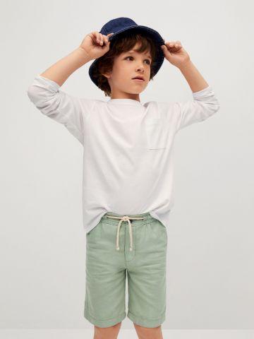 מכנסי ברמודה בסיומת קיפול של MANGO