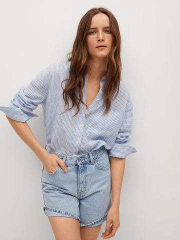 ג'ינס קצר בגזרה ישרה של MANGO