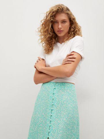 חצאית מידי בהדפס פרחים של MANGO