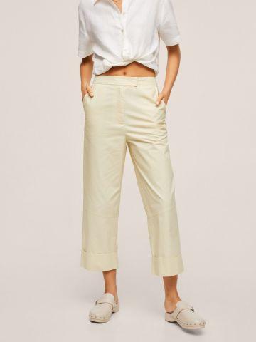 מכנסיים בשילוב תיפורים מודגשים של MANGO