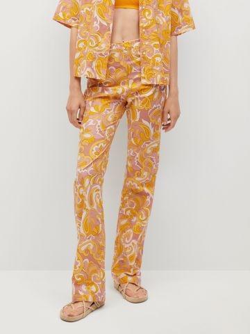 מכנסיים ארוכים בהדפס של MANGO
