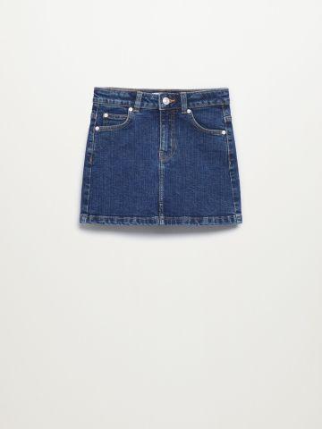 חצאית ג'ינס עם כיסים / בנות של MANGO