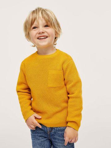 סוודר חלק עם כיס של MANGO