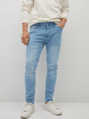 ג'ינס ארוך עם שפשופים של MANGO