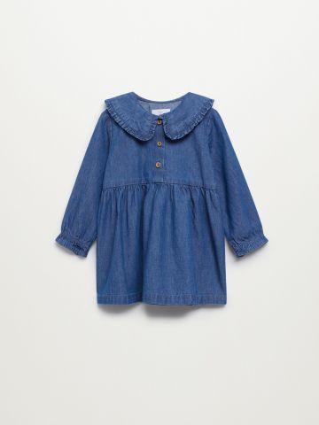 שמלת ג'ינס עם צווארון בייבידול / 9M-5Y של MANGO