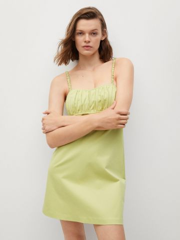 שמלת מיני בשילוב כיווצים של MANGO
