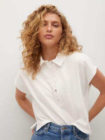 חולצת פולו אוברסייז של MANGO