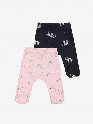 מארז 2 מכנסיים עם רגליות בצבעים שונים / 0-3M של MINENE