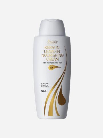 קרם הזנה קרטין Keratin Leave In Nourishing Cream for Thin Hair של VITAMINS