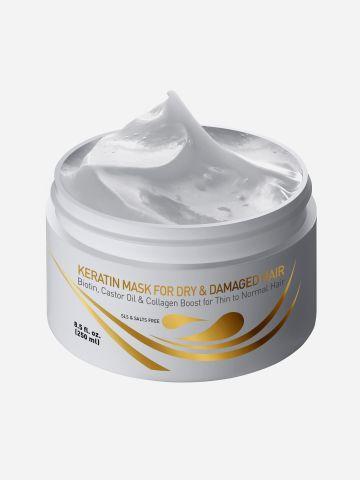 מסכת קרטין וביוטין Keratin & Biotin Mask for Dry & Damaged Hair של VITAMINS