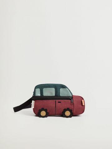 תיק פאוץ' בדוגמת מכונית / ילדים של MANGO