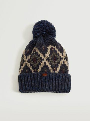 כובע צמר עם פונפון / בנים של MANGO