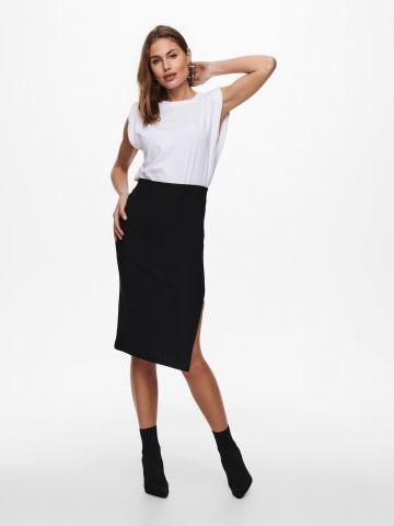 חצאית מיני עם שסע של ONLY