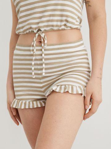 מכנסיים קצרים בהדפס פסים של AERIE