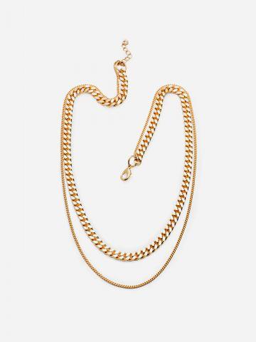 שרשרת זהב בינג קטנה של SK-SHANI KALAY