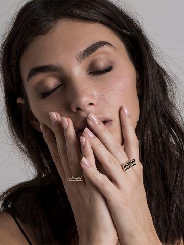 טבעת אניס כסף של SK-SHANI KALAY